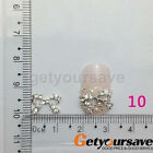 10/50pcs 3D Rhinestones Nail Art Glitters Sticker Tips Manicure DIY Decorations