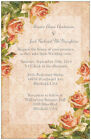 50 100 Shabby Chic VINTAGE Roses 5X7 PERSONALIZED WEDDING Invitation Custom