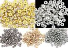 100pcs Hot sale Crystal Rhinestone Paved Copper Metal Spacer Beads Finding 4mm