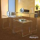 Acrylic Perspex Riser Shelf Nesting Plinths Shop Counter Display Stands