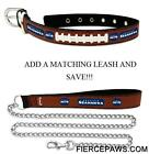 Seattle Seahawks Leather Dog Collar Officially Licensed NFL Puppy Pet Leash Lead