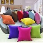 Plain Color Home Decor Bed Sofa Throw Pillow Cases Square Car Back Cushion Cover