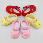 Baby Girls Infant Mary jane Velcro Embroidery Flower Soft Sole Canvas Crib Shoes