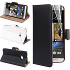 Vintage Real Genuine Leather Wallet Flip Stand Case Cover for HTC ONE M7 M8 M9