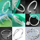 Wholesale Fashion Jewelry Solid Silver Lady 925Silver Bangle/Bracelet& Gift Box