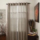Set of 2 Sheer Monica Grommet Curtain Panels Choice of Colors 95 inch