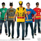 C971 Mens Superheroes Batman Robin Superman Green Lantern T-Shirt Adult Costume