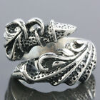 Size 8-13 Biker Punk Stainless Steel Claw Talon Animal Men's Finger Ring Jewelry