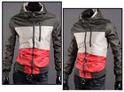 Men's Spring and Autumn Slim Fit Stitching Hooded Casual Jacket/Outwear/Coat OD