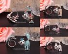1pc Cute Cat With Full Shiny Crystal Rhinestone Animals Adjustable Ring ,New