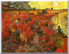 The Red Vineyard Vincent van Gogh Stretched Painting Repro Canvas Wall Art Print