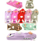 New Fashion 3D Cute Lovely Rabbit Pattern Case Cover for Apple iPhone 4 4S CNF