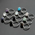Chic Gem Divination Quartz healing point chakra Beads Party Casual Rings US8.5