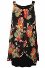 Yoursclothing Womens Plus Size Floral Print Chiffon Overlay Tunic Dress