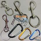 Metal Snap Hook Swivel Clasp Lanyard Clip Carabiner Lobster Claw Keychain Holder