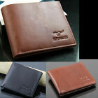 Fashion Men's Genuine Leather Money ID Cards Wallet Clutch Bifold Clip Pocket