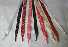 Satin Polka Dot Ribbon Laces - Adults, Junior,Inf - Aglets on Ends - from £1.50