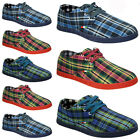 NEW MENS CANVAS DESIGNER CASUAL BOAT DECK PUMPS PLIMSOLLS TRAINERS SHOES SIZE