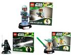 Star Wars Lego Night Light Torch With Base - New In Box Vader / Yoda / Boba Fett