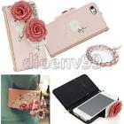 Stereoscopic Flower Flip Case Wallet Card Holder Cover Bag For IPhone 4S/5S/5C
