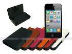 Horizontal Leather Case Cover for iPhone 4S 4