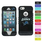 For iPhone 5 5S Detroit Lions Hybrid Rugged Impact Armor Phone Case Cover