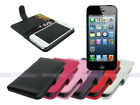 Leather Wallet Case Cover for iPhone 5S 5 with Card Slot