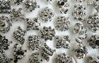 Wholesale 8-24PCS nice top vintage Rhinestone silver plated rings free shipping