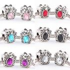 Wholesale Crystal Rhinestone Metal Butterfly Charms Beads Findings Fit Bracelet