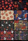 FQ, ASSORTMENT HALLOWEEN HOLIDAY COTTON QUILTING, CRAFTING FABRIC  FAT QUARTERS