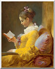 A Young Girl Reading Jean Honore Fragonard Stretched Repro Canvas Fine Art Print