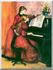 The Piano Lesson Pierre Auguste Renoir Painting Repro Stretched Wall Art Print