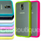 Fitted Case Bumper Clear Back Plate Cover for Samsung Galaxy S5 S4 i9600 i9500