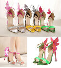 Free shipping Butterfly Womens opentoe Stilettos High Heel Ankle Strap Sandals