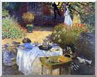 Le Dejeuner The Lunch by Claude Monet Stretched Painting Repro Canvas Art Print