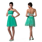 New Beaded Sexy Hot Lady Formal Evening Prom Ball Gown Wedding Bridesmaid Dress
