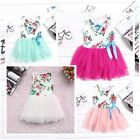 New Baby Girls Clothes Toddlers Tulle Skirt Bow Floral Princess Tutu Dress 6M-3Y