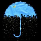 urban City Rain Umbrella Men's T-SHIRT banksy novelty graphic design tee S-XL