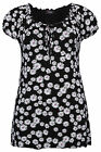 Yoursclothing Womens Plus Size Daisy Print Longline Jersey Gypsy Top