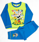 MM99 Boys Disney Goofy & Mickey Mouse Snuggle Fit Pyjamas Sizes 12 Mth to 4 Yrs