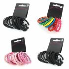 Set of 19 Coloured Assorted Style Hair Elastics Bobbles Bands - Hair Accessories