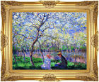 Framed Artwork Giclee Art Print Springtime by Claude Monet Painting Reproduction