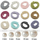 Womens Faux Pearl Charm Round Beads For Jewelry Finding Making DIY 4/6/8/10/12mm