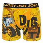 Character Kids Boys JCB Single Boxer Shorts Casual Printed Underwear Infants