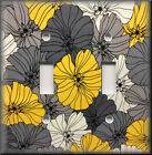 Switch Plates And Outlets - Yellow And Grey Floral - Modern Home Decor