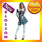 CK46 Child Girl Monster High Frankie Stein Costume Fancy Dress Up Party Outfit