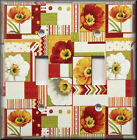 Switch Plates And Outlets - Patchwork Poppies - Floral Home Decor - Poppy Flower