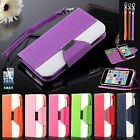 Colorful Shockproof Wallet Pouch PU Leather Hard Soft Case Cover For iPhone 5C