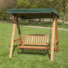 Wooden 2 Seater Swing Seat with Canopy - Choice of Colours