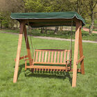 Alfresia Wooden 2 Seater Swing Seat with Canopy - Choice of Colours